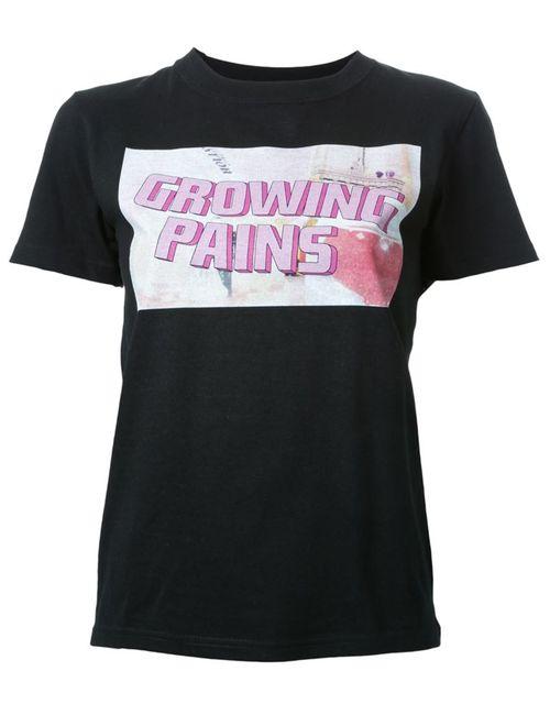 Growing Pains | Женское Чёрный Logo Print T-Shirt