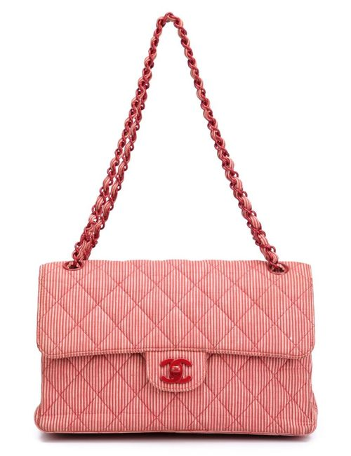Chanel Vintage | Женское Красный Medium Double Flap Shoulder Bag