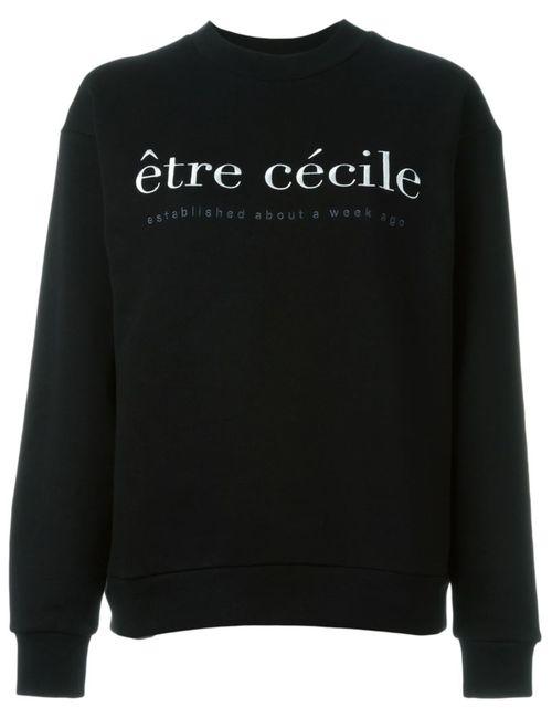 ÊTRE CÉCILE | Женская Чёрная Толстовка С Логотипом