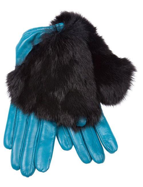 Imoni | Женское Синий Fur Timmed Gloves