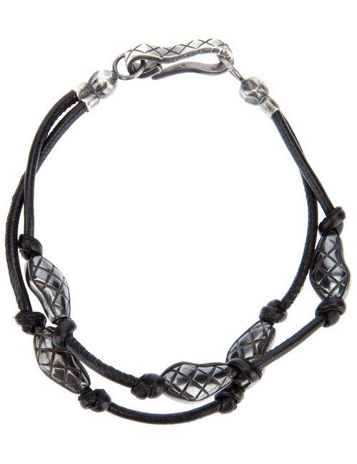 Bottega Veneta | Мужское Чёрный Engraved Bead Bracelet