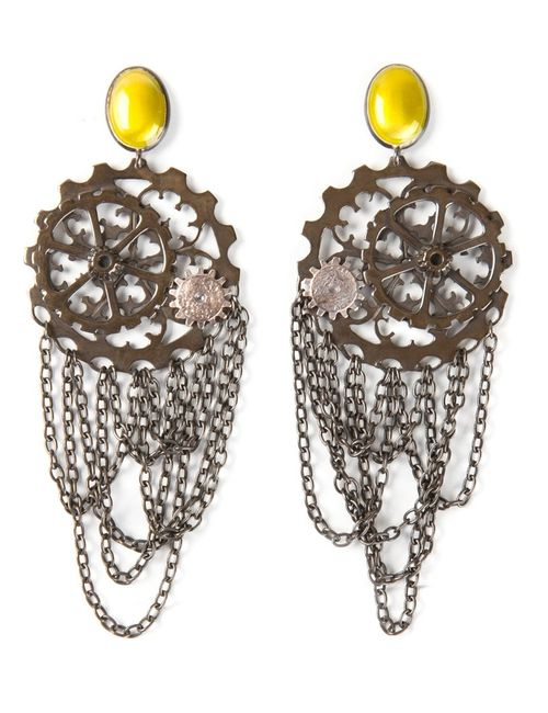 Bottega Veneta | Женское Желтый Cog Wheel Earrings
