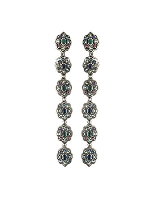Gucci | Женское Серебристый Swarovski Crystal Clip-On Earrings