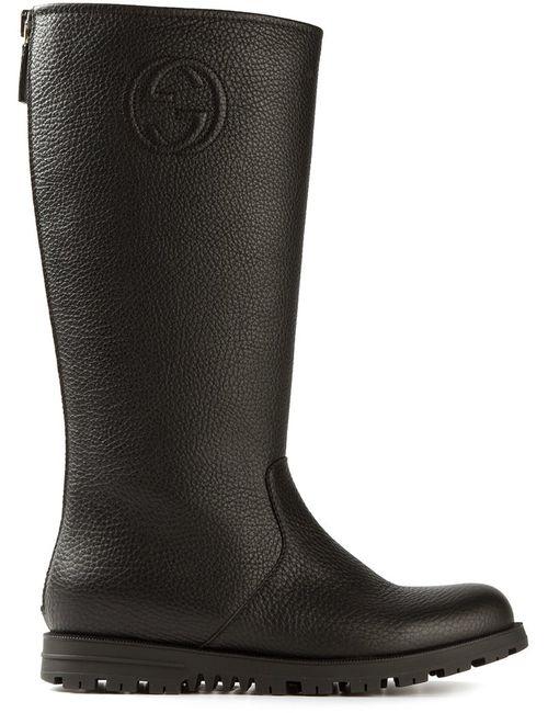 Gucci | Женское Чёрный Round Toe Boots