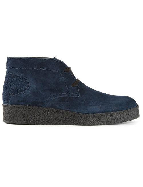 Bottega Veneta   Мужское Синий Intrecciato Detail Desert Boots