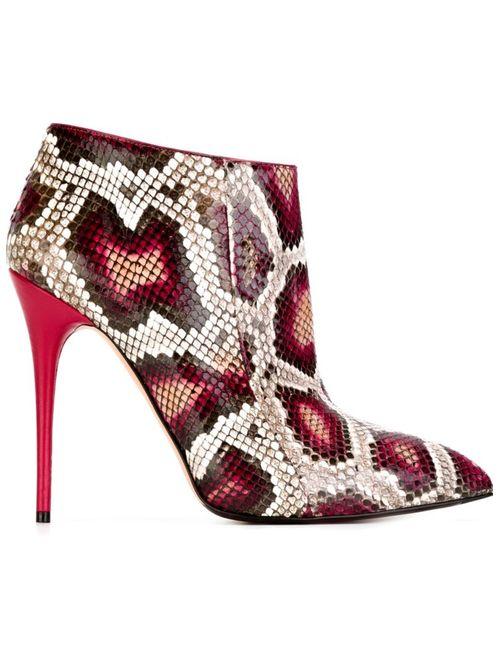 Alexander McQueen | Женское Розовый Snakeskin Effect Ankle Boots
