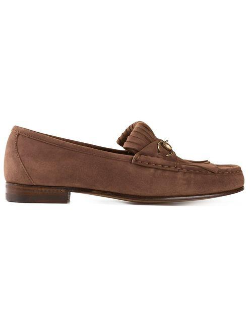 Gucci   Женское Коричневый Tasseled Loafers