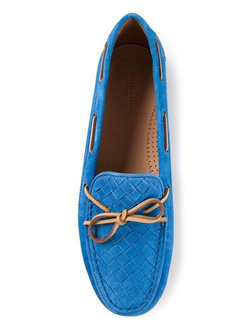 Bottega Veneta   Женское Синий Intrecciato Driving Shoe
