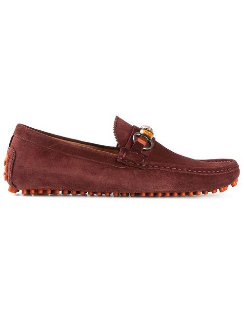 Gucci | Мужское Красный Bamboo Detail Loafers