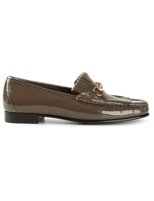 Gucci | Женское Серый Fringed Loafers