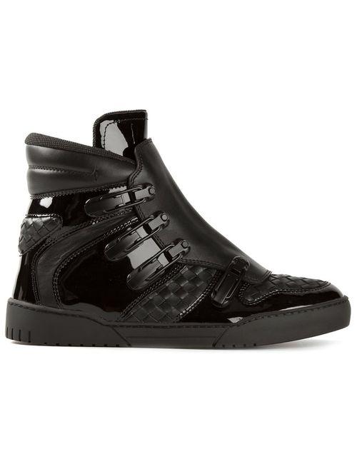 Bottega Veneta | Мужское Чёрный Intrecciato Hi-Top Sneakers