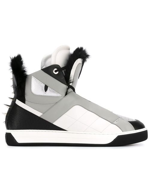 Fendi | Мужское Черный Bag Bugs Hi-Top Sneakers