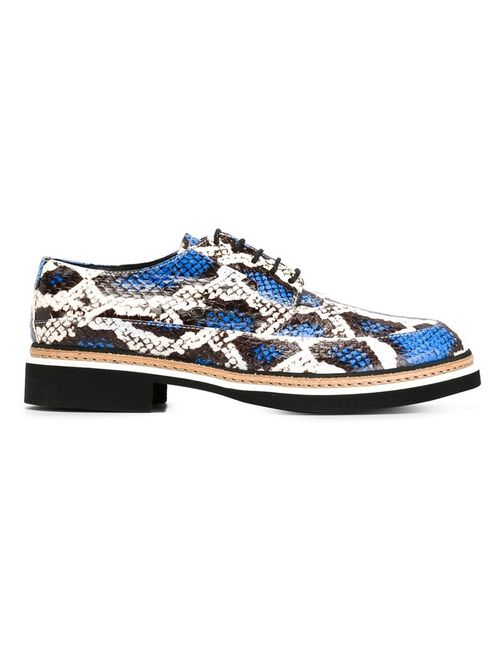 Mcq Alexander Mcqueen | Женское Белый Snakeskin Lace-Up Shoes