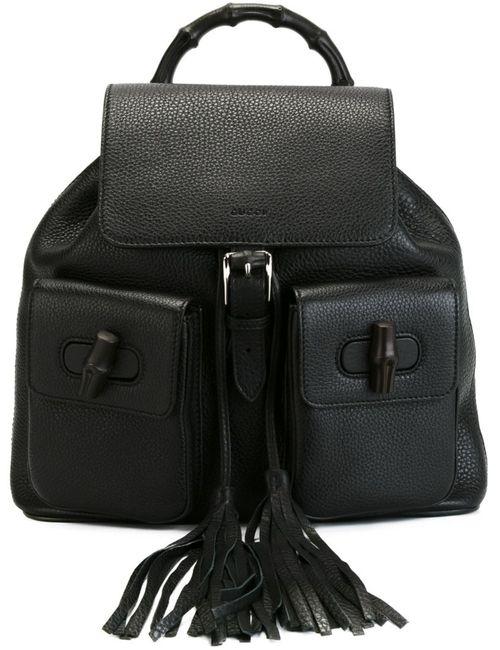 Gucci | Женское Чёрный Bamboo Backpack