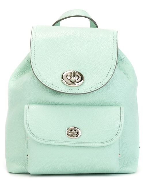 COACH   Женское Зелёный Flip-Lock Backpack