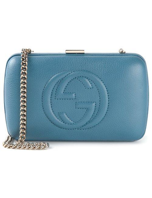 Gucci | Женское Синий Logo Clutch