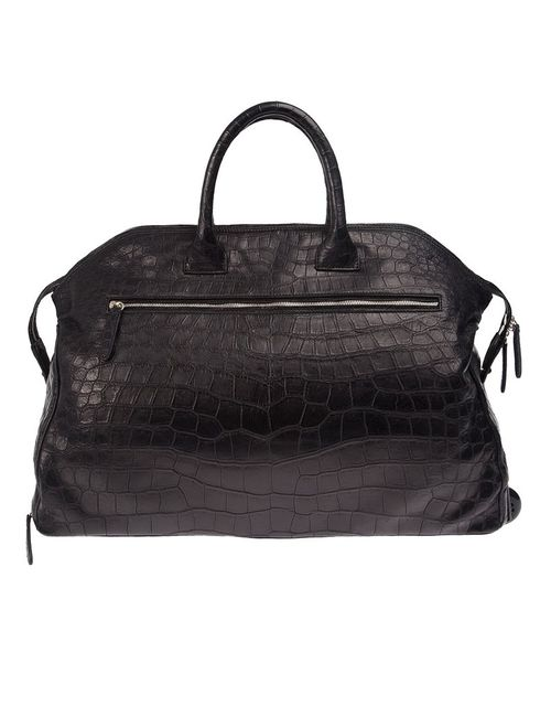 Zagliani   Чёрный Crocodile Leather Holdall