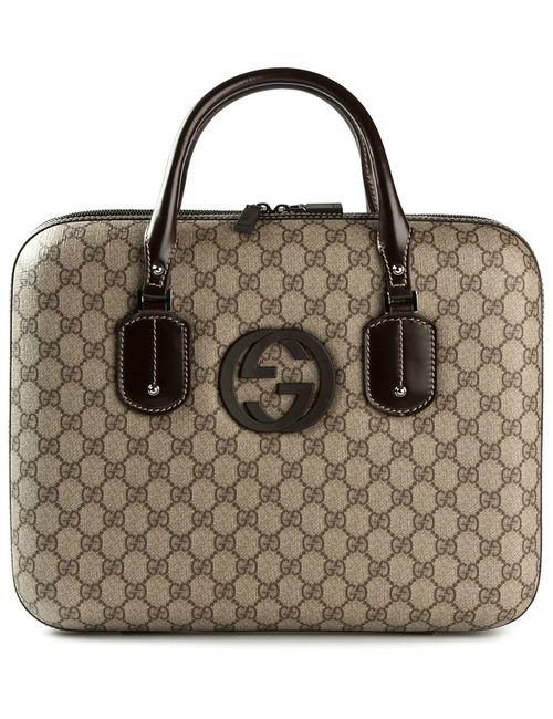 Gucci | Nude & Neutrals Signature Monogram Laptop Bag