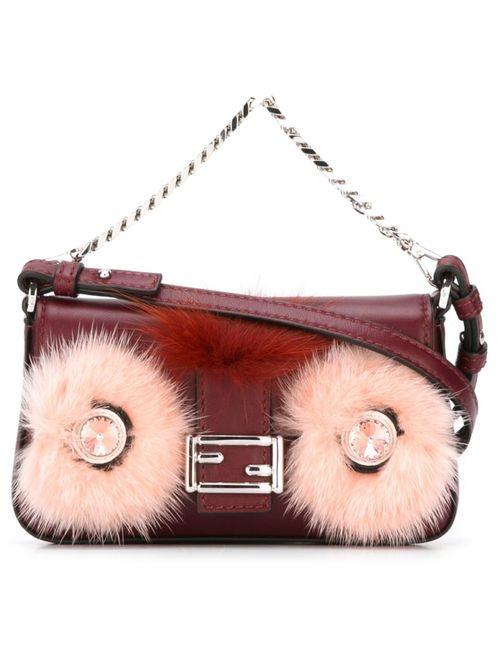 Fendi | Женское Красный Micro Baguette Crossbody Bag