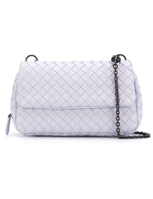 Bottega Veneta   Женское Розовый Intrecciato Crossbody Bag