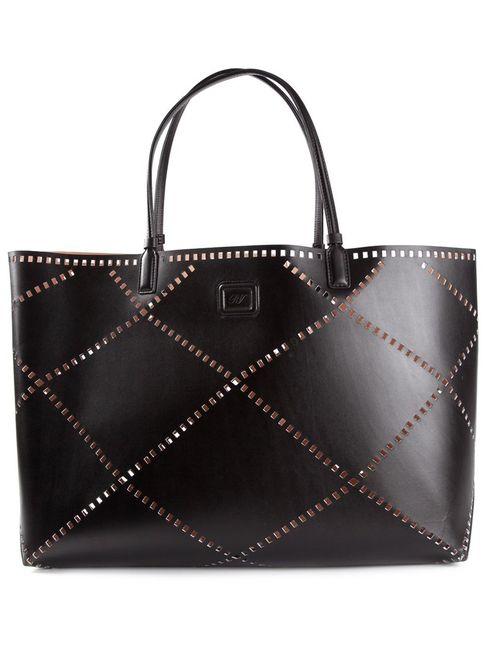 Roger Vivier | Женское Чёрный Perforated Leather Tote
