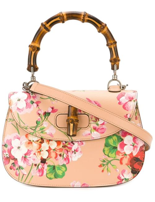 Gucci | Женское Nude & Neutrals Bamboo Classic Blooms Tote