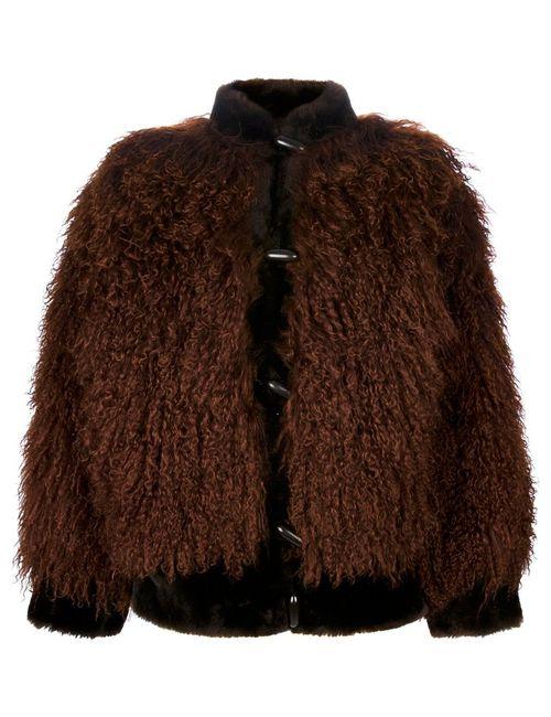 Saint Laurent | Женское Коричневый Yves Vintage Mink Fur Jacket