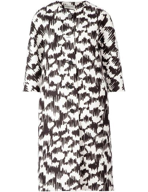 Balenciaga | Женское Чёрный Abstract Print Coat