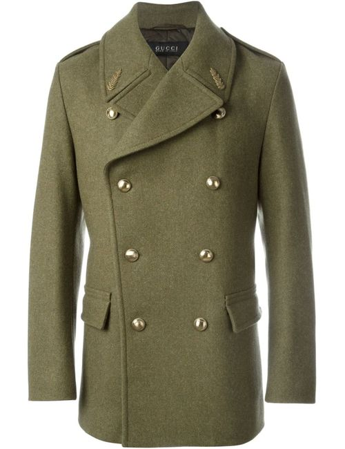Gucci | Мужское Зелёный Double Breasted Coat