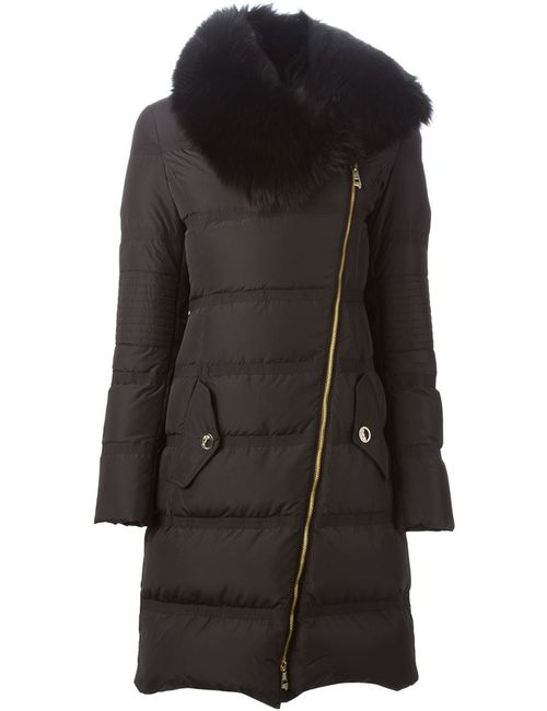 Versace Collection | Женское Чёрный Fox Fur Collar Padded Coat