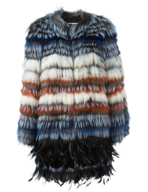 Etro | Женское Многоцветный Raccoon Fox Fur Midi Coat