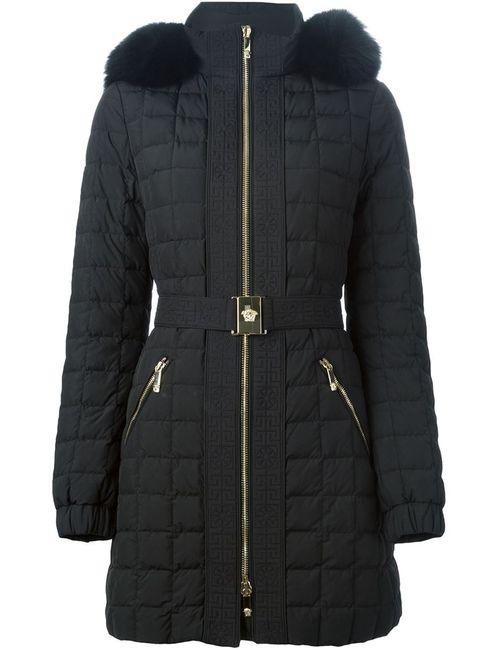 Versace | Женское Чёрный Fox Fur Trim Padded Coat