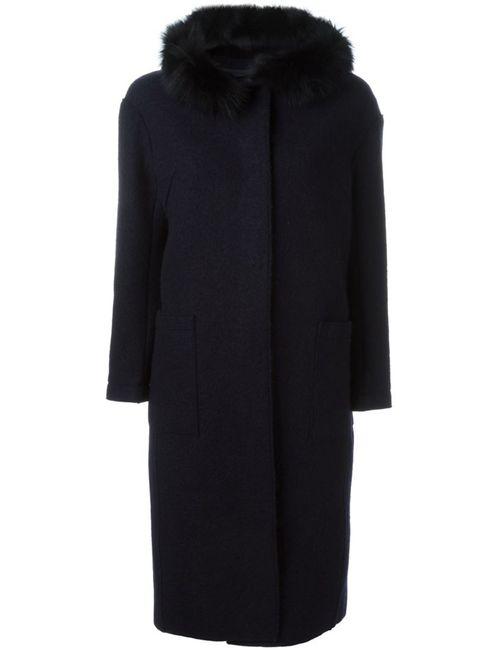 Eleventy | Женское Синий Fox Fur Trim Coat