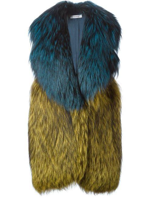 Liska | Женское Синий Oversized Collar Coat