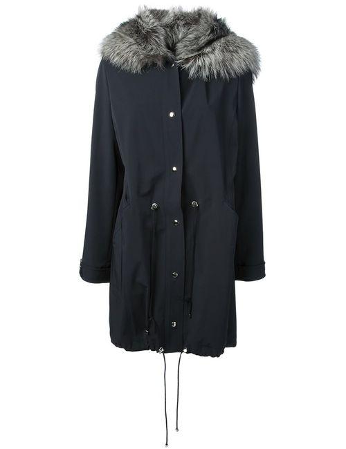 Liska | Женское Синий Fox Fur Hood Parka