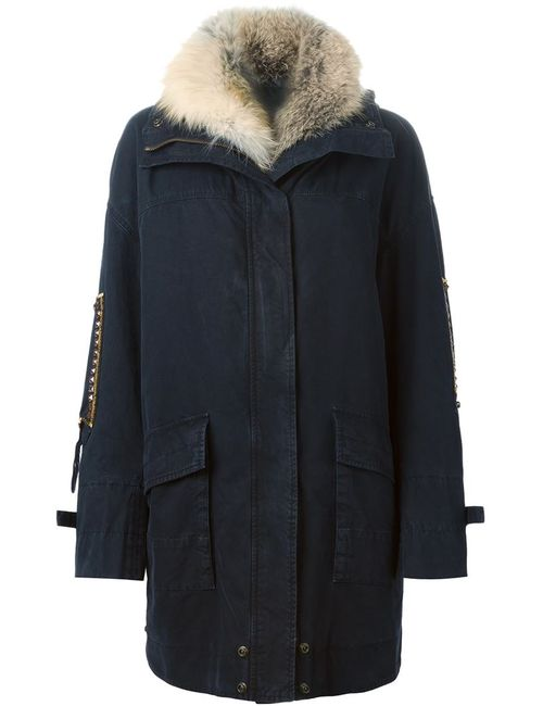 Ermanno Scervino | Женское Синий Detachable Fur Collar Parka