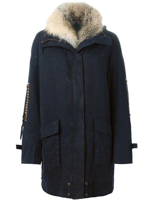 Ermanno Scervino | Женское Синий Detachable Fur Collar Parka