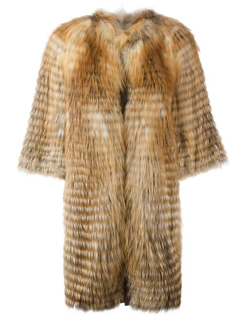 Liska | Женское Nude & Neutrals Fox Fur Coat
