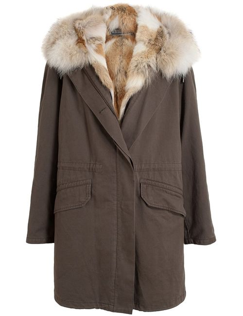 Yves Salomon | Женское Зелёный Coyote Fur Lined Parka