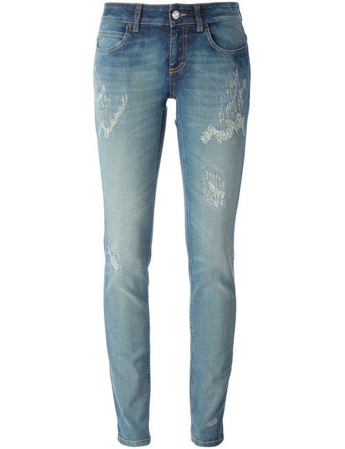 Gucci | Женское Синий Distressed Skinny Jeans