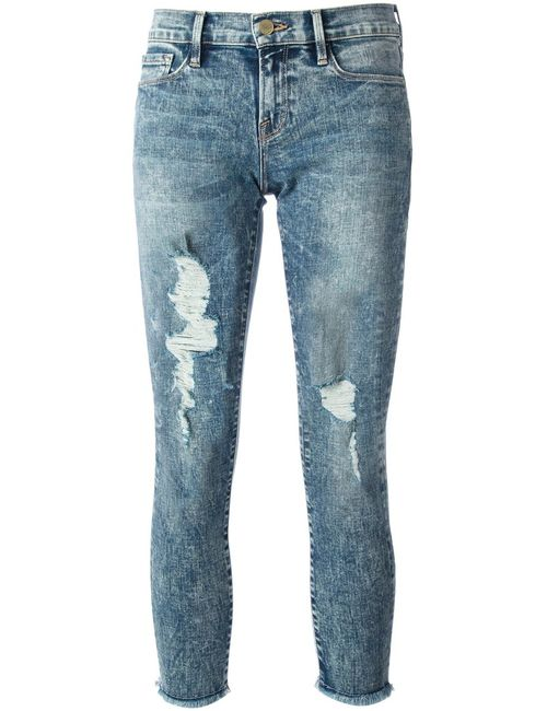 Frame Denim   Женское Синий Ripped Jeans