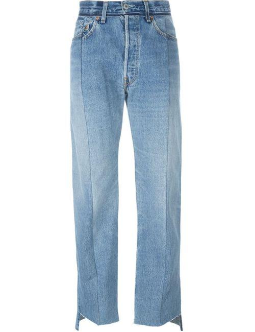 VETEMENTS | Женское Синий Faux Patch Pocket Wide Leg Jeans