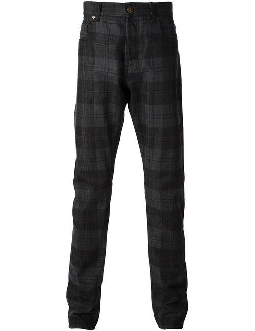 Alexander McQueen | Мужское Черный Checked Straight Leg Jeans