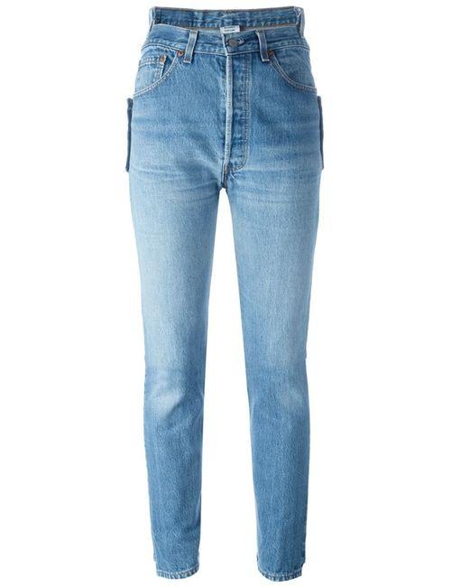 VETEMENTS | Женское Синий High Waist Slim Jeans