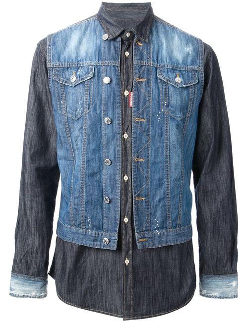 Dsquared2 | Мужское Синий Denim Jacket Shirt