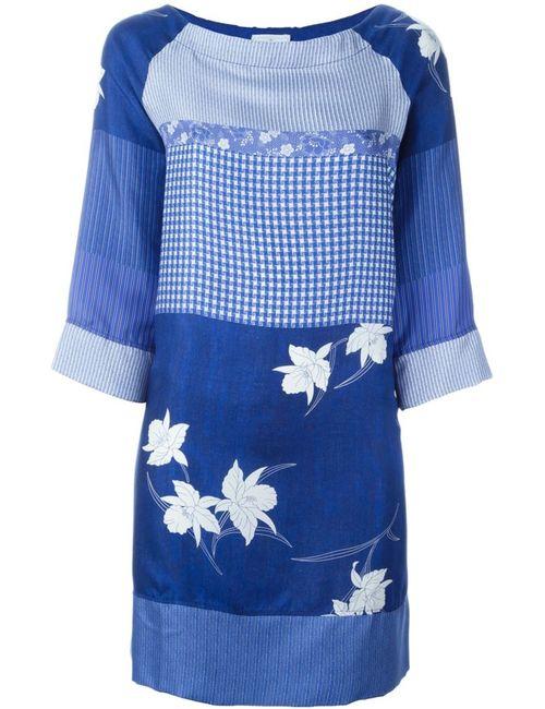 PIERRE-LOUIS MASCIA | Женское Синий Mixed-Print Dress