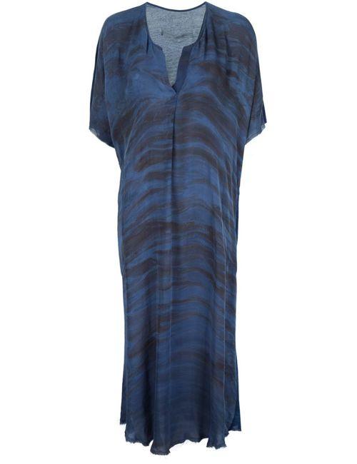 Raquel Allegra | Женское Синее Платье Свободного Кроя