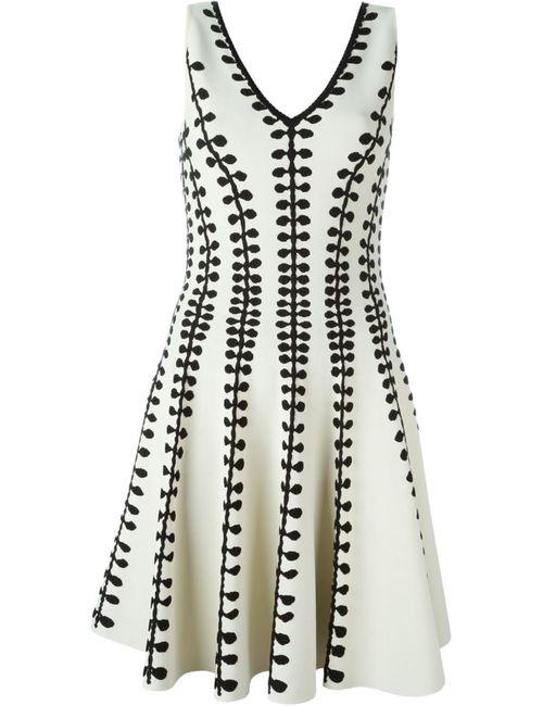 Alexander McQueen | Женское Белый Textured Knit A-Line Dress