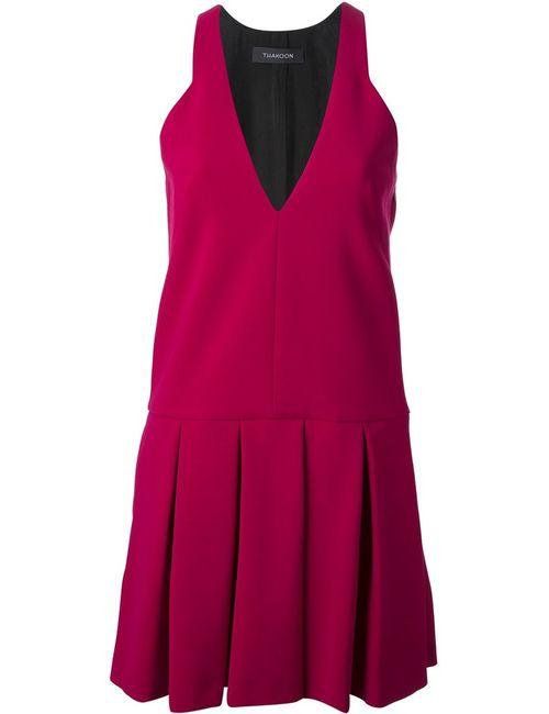Thakoon | Женское Розовый Drop Waist Pleated Dress