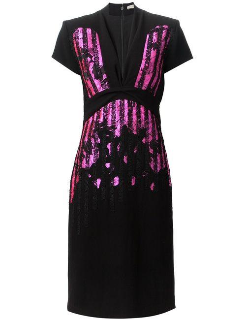 Bottega Veneta | Женское Чёрный Lace Stripes Dress